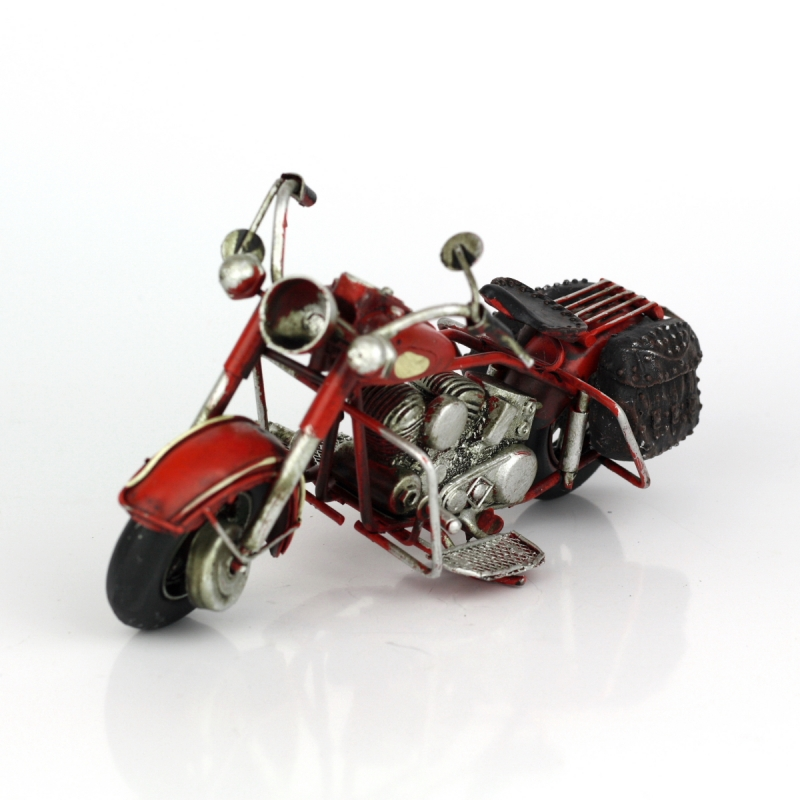 Retro model motorka Red devil 19cm